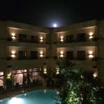 Beautiful moon viewed from the balcony