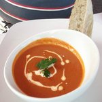 Tomato soup and cream for vegetarians
