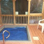 outdoor hot tub (cover is on in this pic)