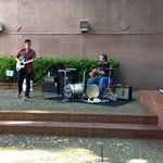 Local musicians Saturday afternoon. Awesome father/son talent