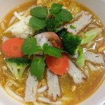 Fish cake crab meat soup...its lovely..price reasonable..try it when u dine in..