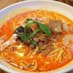 Seafood laksa soup .its absolutely lovely..
