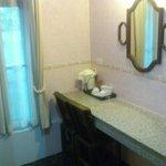 room between bathroom and bedroom