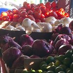 Beautiful fresh produce in the local market