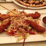 coconut shrimp with asian slaw