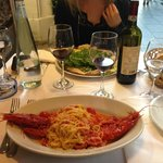 Spaghetti ai gamberoni e pecorino