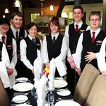 Staff and Students at the Engine Shed Restaurant