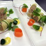 Smoked mackerel pate, saffron and dill mayonnaise, pickled cucumber, ciabatta crisp.