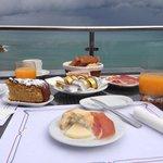 Vistas de la terraza desayunando. Un paraíso