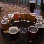 Beer sampler at Pagosa Brewery