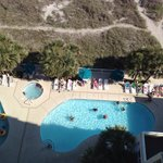 Pool and lazy river view from 12th floor balcony