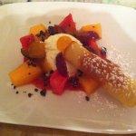 Mousse di ricotta con frutta