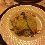 Risotto al tartufo con fiori di Zucca