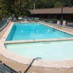 Heated pool. Very clean.