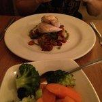 Chicken chorizo and crunchy vegetables