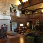 The elegant lobby entry