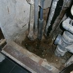 open sewer with raw sewerage