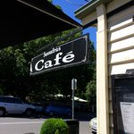 Lovely signboard of the cafe