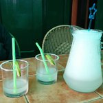 A $10 pitcher of Margaritas at Miguels Cafe in Chiang Mai Thailand.  Note the ICE vs. Alcohol le