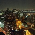 City view at night from 34th floor