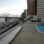 Pool on the roof, overlooking the Ohio River