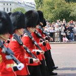 Marching with the guards