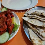 Chicken thika and naan