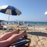 the beach with Kefalonia view