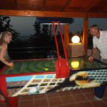 Quick game of air hockey