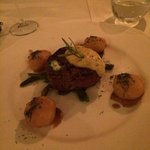 Steak main. Very well presented and tasted fantastic!