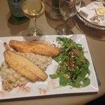 Zeebaarsfilet risotto Porcini