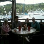 Family lunch at The Anchorage at Sunapee Harbor, 6-10-2013, not September 2013 as shown above.