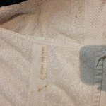 Towels with brown spots