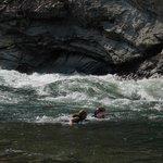 Refreshing dip at Cliffside Rapids