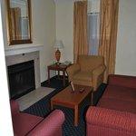 Livingroom area with fireplace