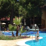 Family relax swimming pool