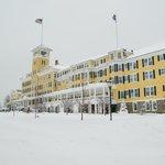 Hotel in the winter
