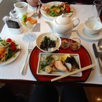 typical Japanese breakfast at the executive lounge
