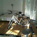 Mon vélo dans ma location à Vila Nova de Gaia
