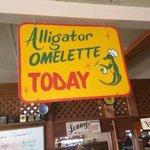 Alligator Omelette