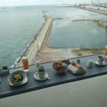 Breakfast in room with a great view !