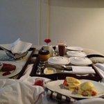 Yummy breakfast in bed!