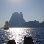 boat trip view to Formentera from Ibiza