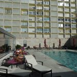 Poolside in the afternoon, view of neighbouring highrise