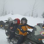 Boys Snowmobile adventure