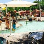 cabana looking onto kiddie pool