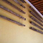 Balken van het oude plafond ...