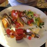 Suggestion du jour aux anchois en entrée