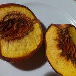 6-tägige Verwandlung eines Pfirsichs zu Dörrobst