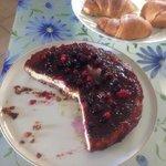 La deliziosa cheesecake fatta dalla padrona di casa!!